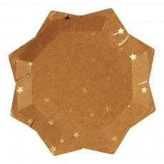 Assiette en carton craft étoile - Lot de 8