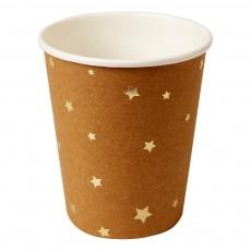 Gobelets en carton craft étoiles - Lot de 8