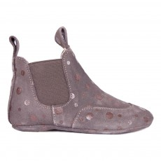 Chaussons Pois Gris