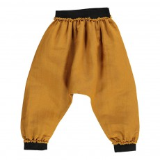 Pantalon Lin Sack Bébé Ocre