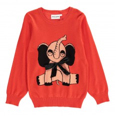 Pull Maille Elephant Rouge