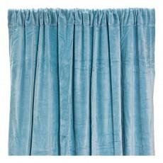 Rideau occultant en velours de coton Bleu gris