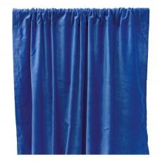 Rideau occultant en velours de coton Bleu