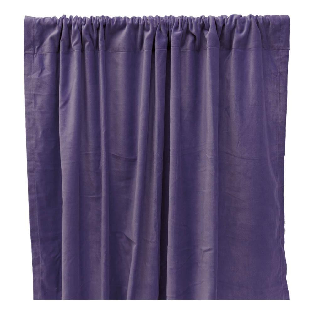 rideau occultant en velours de coton bleu indigo liv interior d coration smallable. Black Bedroom Furniture Sets. Home Design Ideas