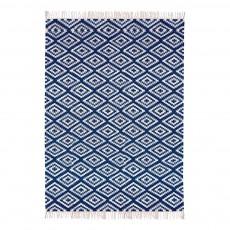 Tapis en coton Apache Bleu marine