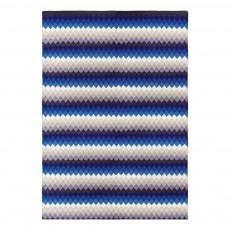 Tapis Batik en coton Bleu