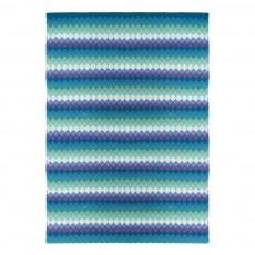 Tapis Batik en coton Bleu Vert
