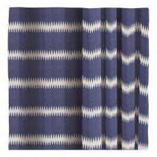 Rideau en coton Ikat rayé Bleu