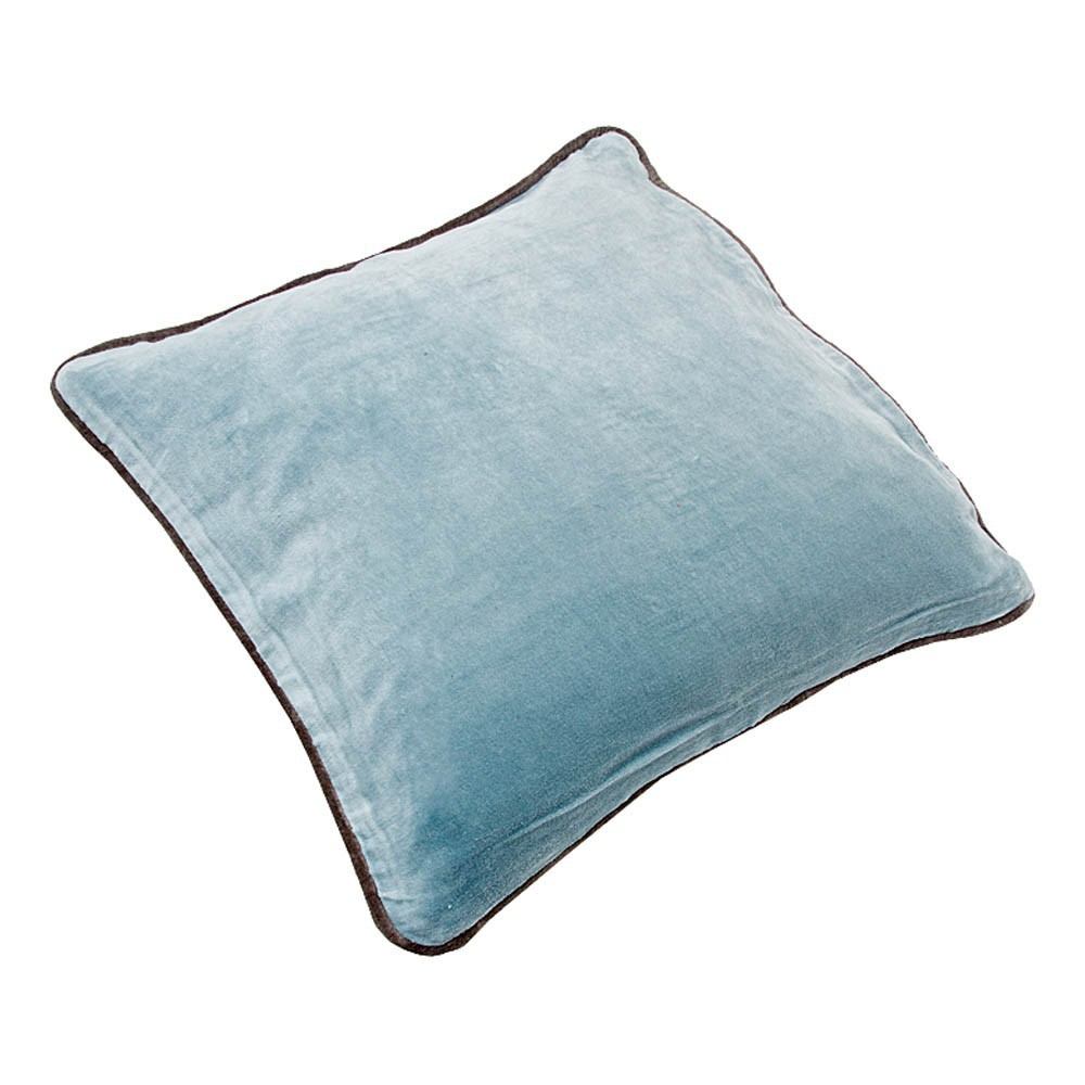 coussin velours bleu gris liv interior d coration smallable. Black Bedroom Furniture Sets. Home Design Ideas