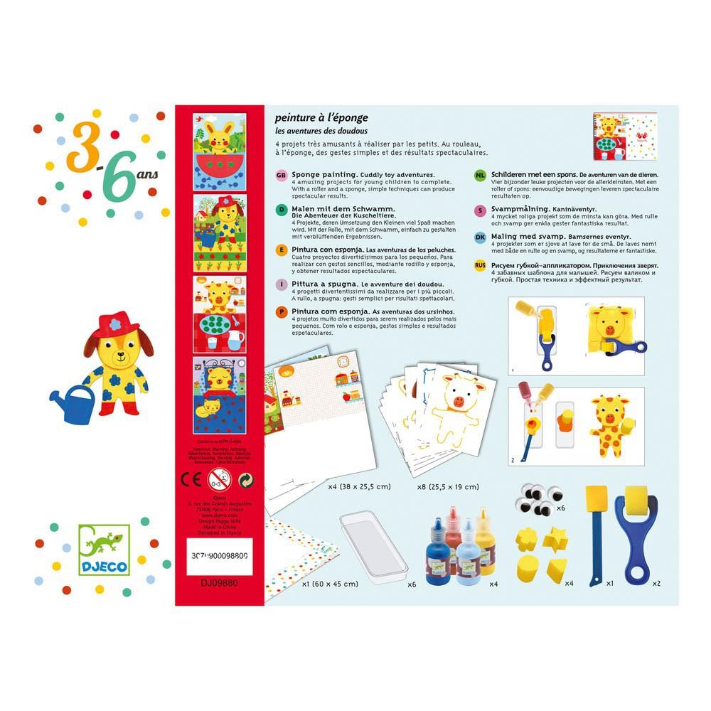 Peinture l 39 ponge djeco jeux jouets loisirs enfant for Peindre a l eponge