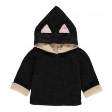 Burnou Baby Alpaga Chat Noir