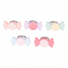 Lot de 5 Bagues Candy Multicolore