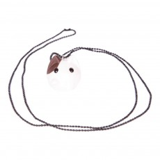 Collier Chat Blanc