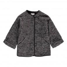 Manteau Tweed Chevrons Scotty Gris chiné