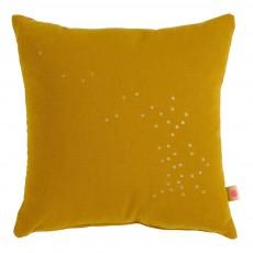 Coussin garni à Pois or 30x30 cm Jaune moutarde