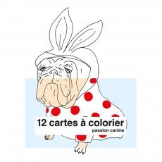 Cartes à colorier Passion canine