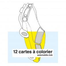 Cartes à colorier Automobile club