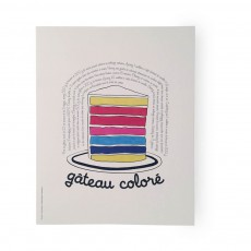 Poster Gâteau coloré