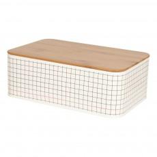 Boîte de rangement rectangulaire Grid Noir
