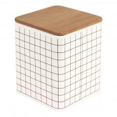 Boîte de rangement carré Grid Noir