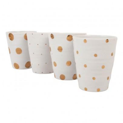 Image du produit Tasses pois dorés - Set de 4