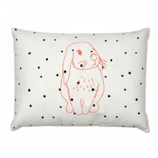 Coussin lapin rose 30x40 cm
