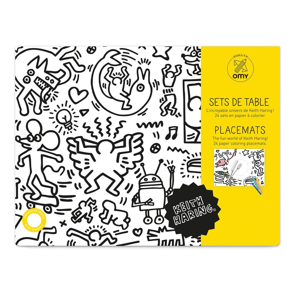Set de table colorier keith haring omy jeux jouets for Set de table pour enfant