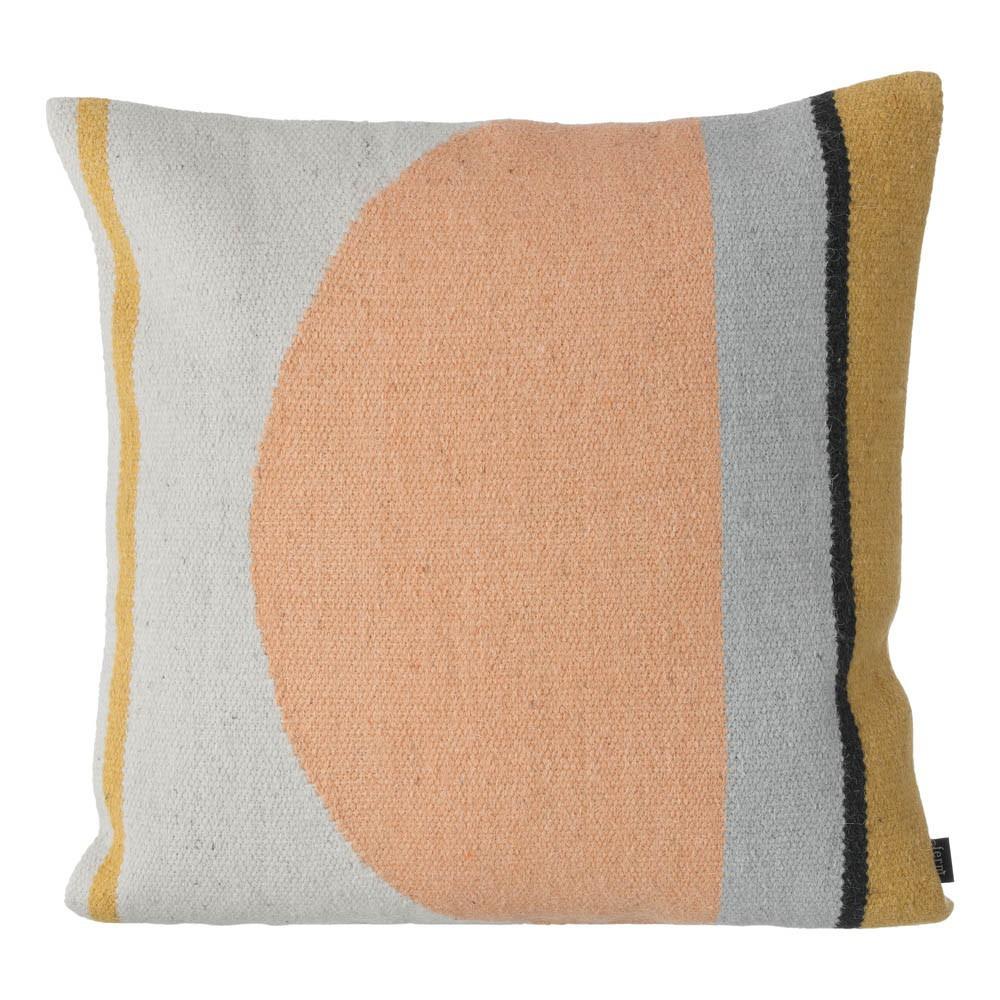 Coussin kelim demi cercle 50x50 cm multicolore ferm living - Coussin rembourrage 50x50 ...