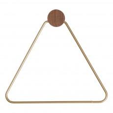 Patère triangle laiton Doré