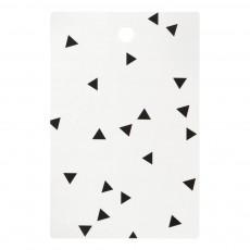 Planche à découper mini triangles Blanc