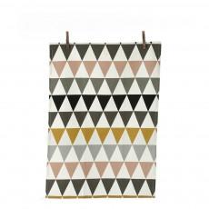 Torchon Triangle Multicolore