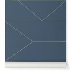 Papier peint Lines Bleu nuit