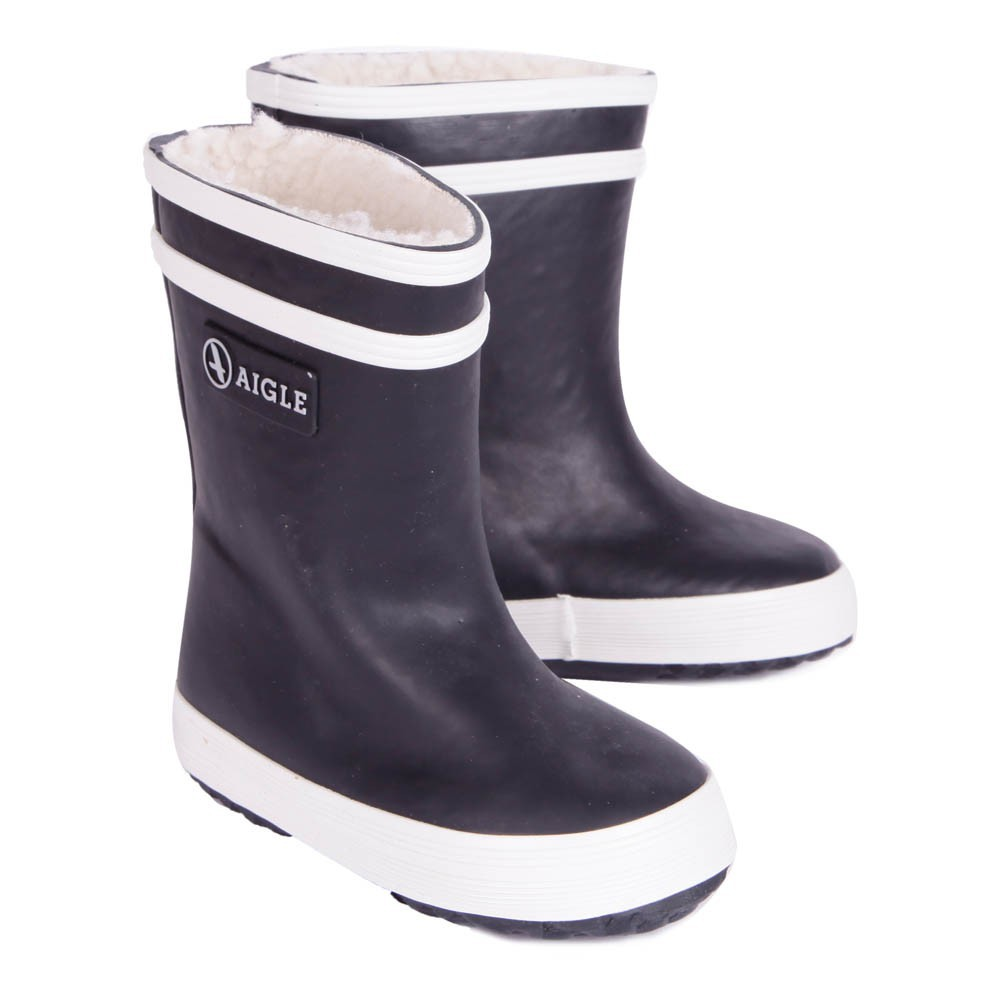 bottes de pluie fourr es baby flac bleu marine aigle chaussures b b smallable. Black Bedroom Furniture Sets. Home Design Ideas