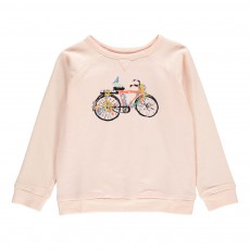 Sweat Bicyclette Edgar Rose pâle