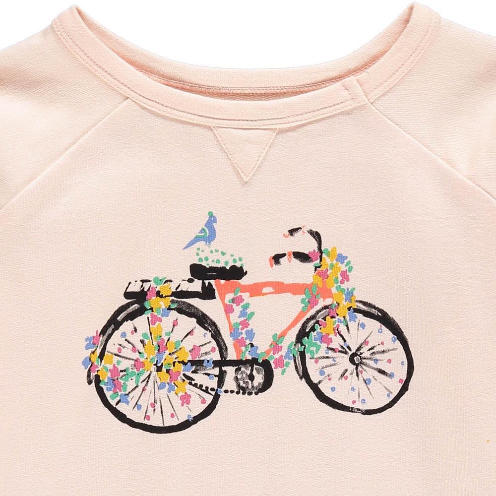 sweat bicyclette edgar rose p le le petit lucas du tertre mode enfant smallable. Black Bedroom Furniture Sets. Home Design Ideas