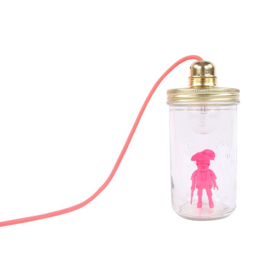 lampe baladeuse bocal playmobil rose fluo la t te dans le bocal d coration smallable. Black Bedroom Furniture Sets. Home Design Ideas