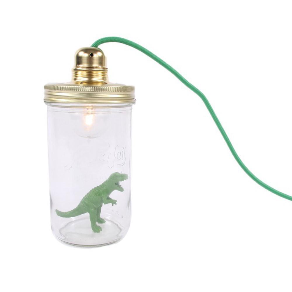 lampe baladeuse dinosaure vert la t te dans le bocal d coration smallable. Black Bedroom Furniture Sets. Home Design Ideas