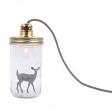 Lampe bocal à poser Bambi Gris foncé