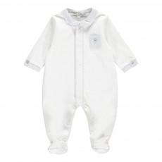 Pyjama Col Chemise Blanc