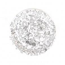 Assiettes en carton à colorier Omy - Lot de 8