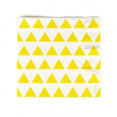 Serviettes en papier triangles jaunes - Lot de 20 Jaune