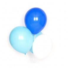 Ballons bleus en latex - Lot de 10 Bleu