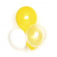 Ballons jaunes en latex - Lot de 10 Jaune