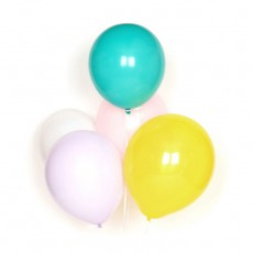 Ballons pastel en latex - Lot de 10 Multicolore