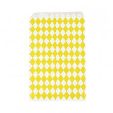 Pochettes en papier kraft losanges jaunes - Lot de 10 Jaune