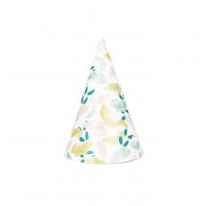 Chapeaux pointus fleuris - Lot de 8 Multicolore