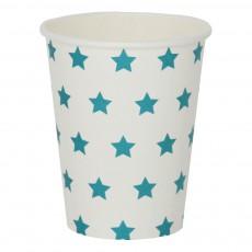 Gobelets en carton étoiles bleues - Lot de 8 Bleu