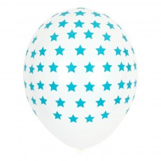 Ballons étoiles bleues en latex - Lot de 5 Bleu
