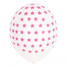 Ballons étoiles fuchsia en latex - Lot de 5 Rose fuschia