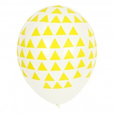 Ballons triangles jaunes en latex - Lot de 5 Jaune